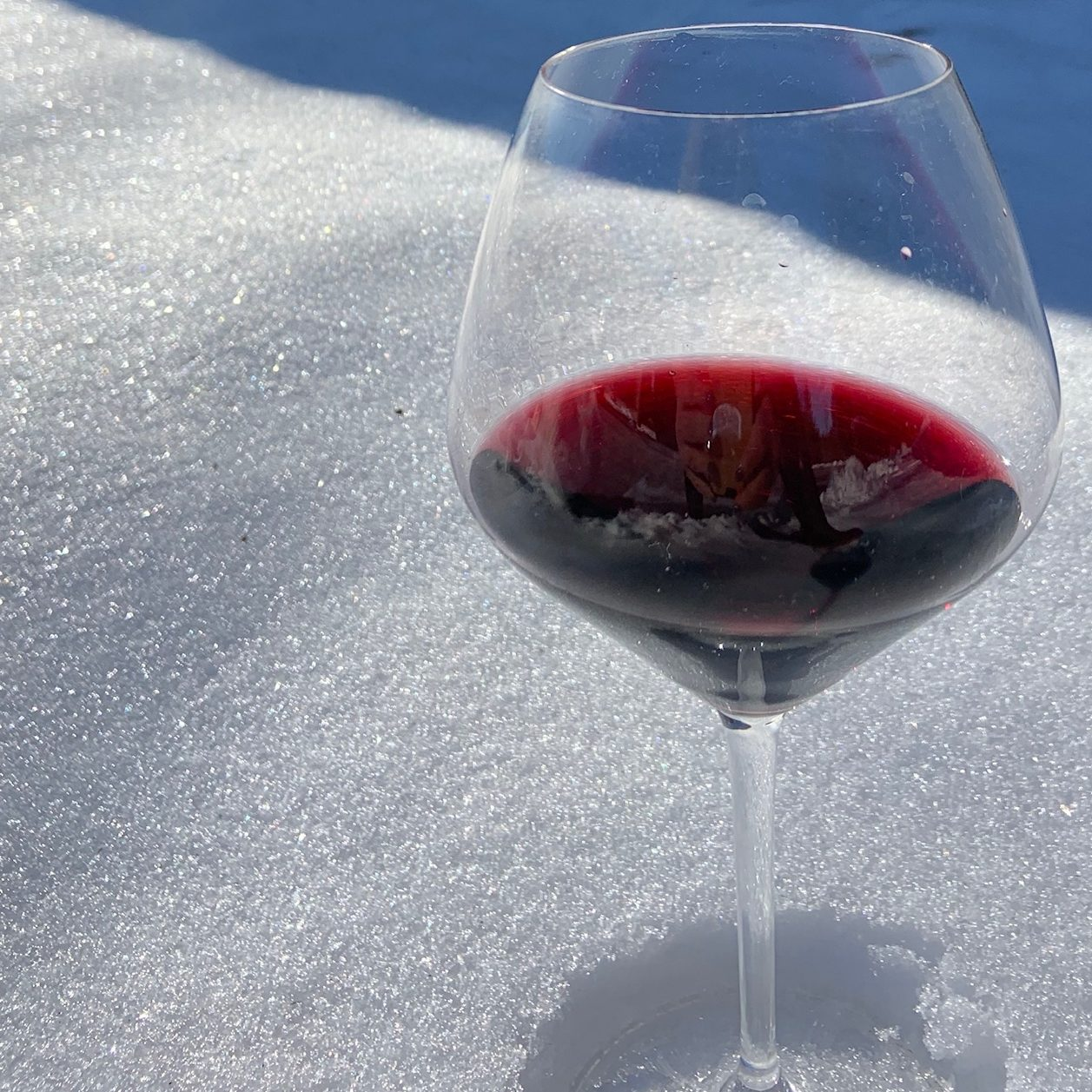 Wine in snow